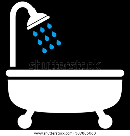 Shower Bath vector icon.