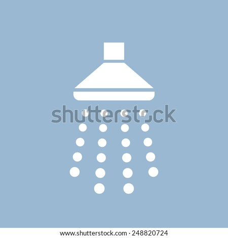 Shower icon - stock vector