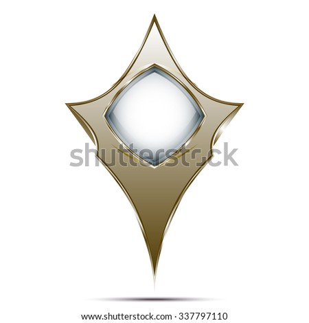 Showing place a marker on the map - stock vector