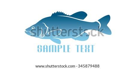 Shown logo fish - stock vector