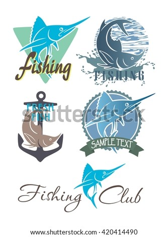 Shown on a set topic marlin fishing - stock vector