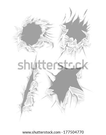 Shredded Paper Vector Pack - stock vector