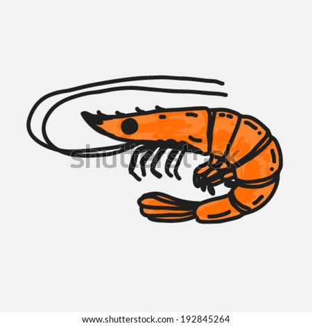 7 cartoon shrimp character