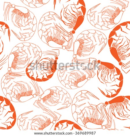 Shrimp seamless background