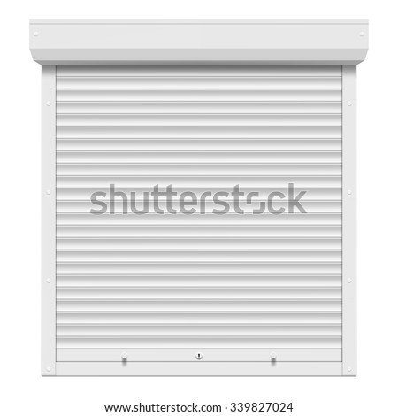 Shutters isolated on white background. Stock vector illustration. - stock vector