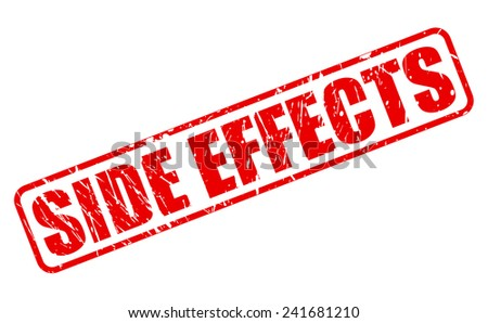Side effect red stamp text on white - stock vector
