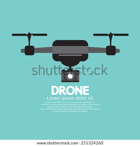 Side View Of Drone Vector Illustration