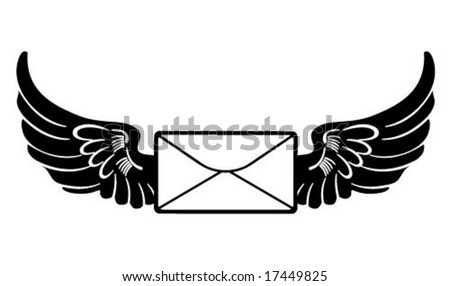 Side Winged Mail Envelope