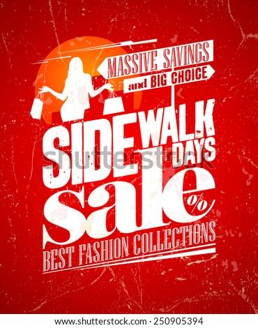 Sidewalk sale grunge design. Eps10. - stock vector
