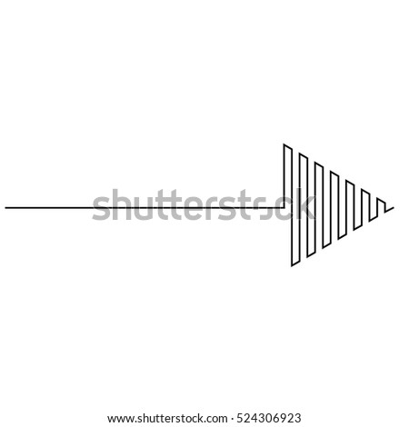 sideways. line sign. Arrow element for your design.Striped direction. vector illustration