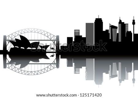 Sidney skyline - stock vector