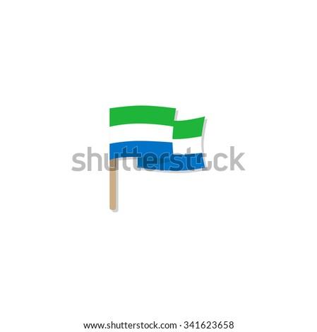 Sierra Leone flag. Vector - stock vector