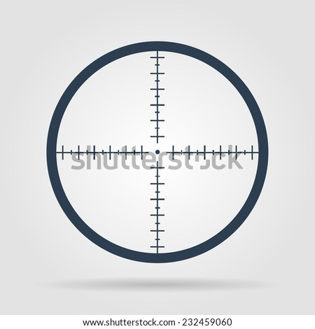 Sight device icon. Flat design style modern vector illustration.  - stock vector