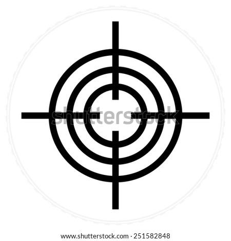sight icon - stock vector
