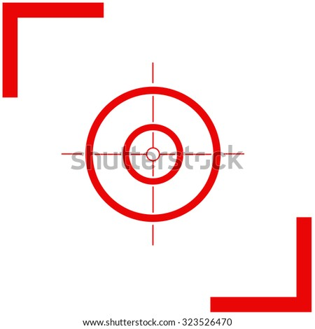 Sight vector icon. - stock vector