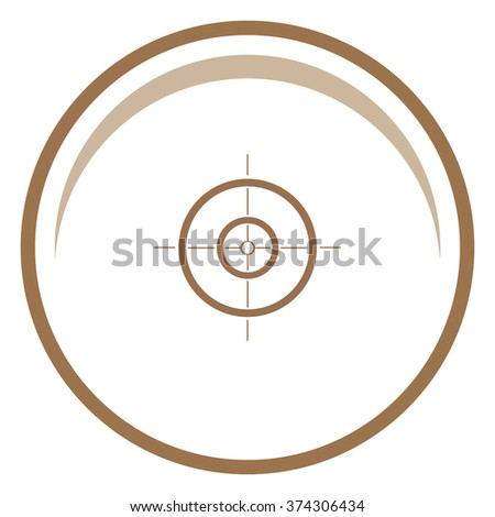 Sight vector icon.