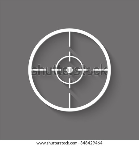 sight vector icon with shadow - stock vector