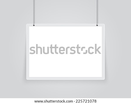 sign board hanging - stock vector