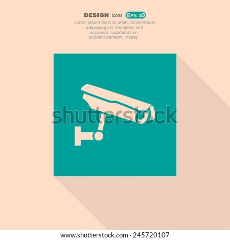 sign CCTV, web icon. vector design