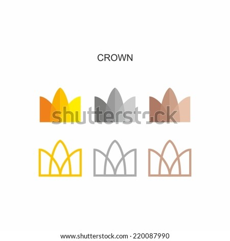 sign crown - stock vector