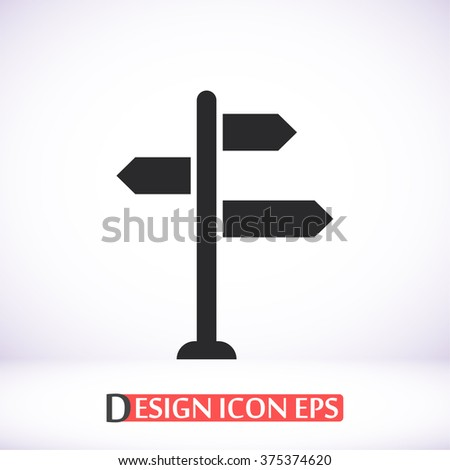 Sign directs icon, sign directs pictograph, sign directs web icon, sign directs icon vector, sign directs icon eps, sign directs icon illustration, sign directs icon picture, sign directs flat icon - stock vector