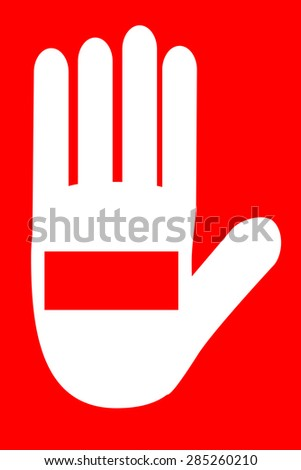 Sign - Don't - stock vector