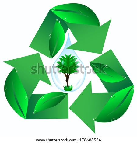 sign ecology - stock vector