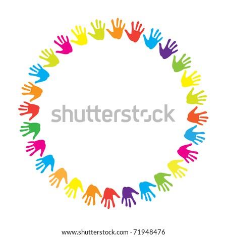 sign-emblem - a hand of friendship - stock vector