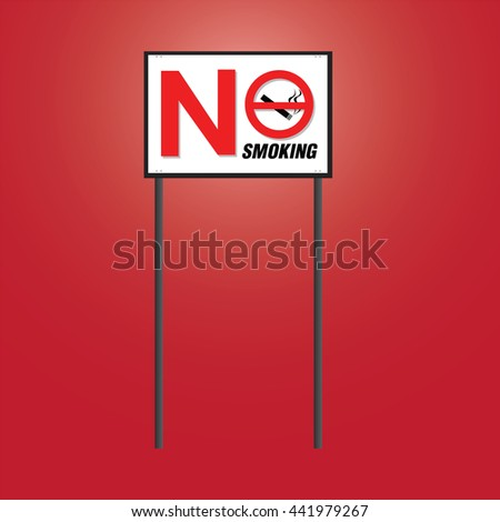 "Sign for ""No Smoking"" board vector icon"