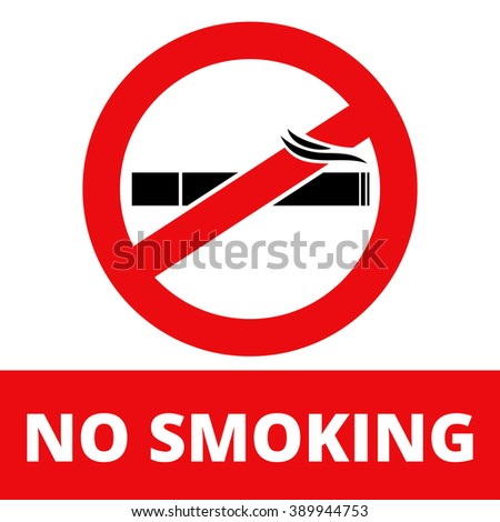Sign for printing Banning Smoking Vector