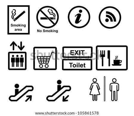 sign in the department store - stock vector