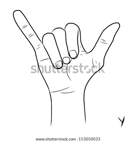 Sign language and the alphabet,The Letter Y