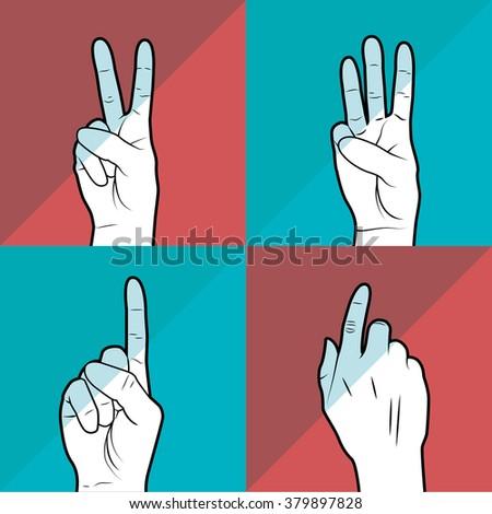 sign language design  - stock vector