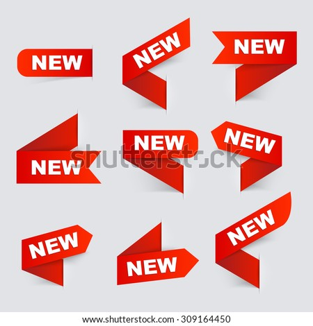 Sign New. New signs. Isolated vector illustration. - stock vector