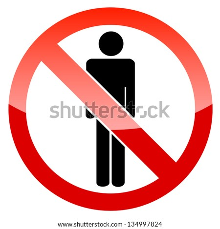 Sign no man on a white background - stock vector