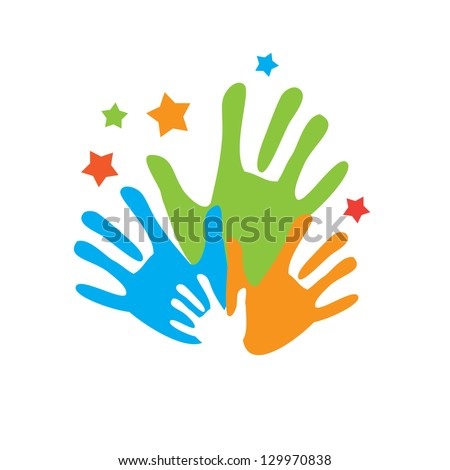 Sign of friends. Vector symbol uniting friendship and family. - stock vector