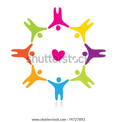 sign of love and friendship - stock vector