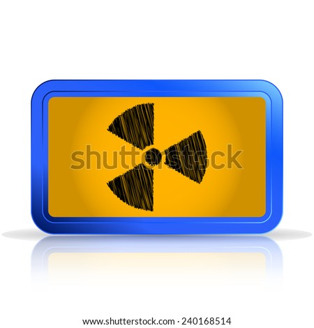 Sign of radiation. Scribble and hatching style. Isolated on white background. Specular reflection. Made vector illustration - stock vector