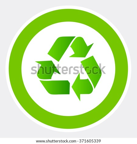 Sign Recycling Environmentalrecycle Symbol Stock Vector 371605339