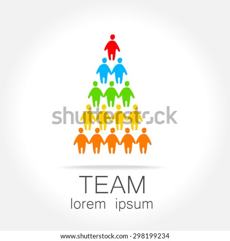 Sign of the leader. Symbol leader in team. Director, boss, top manager, the manager, the owner, led a successful team. - stock vector