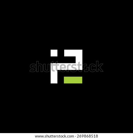 Sign of the letter P and E. Vector Illustration. Branding Identity Corporate vector logo design template Isolated on a black background - stock vector