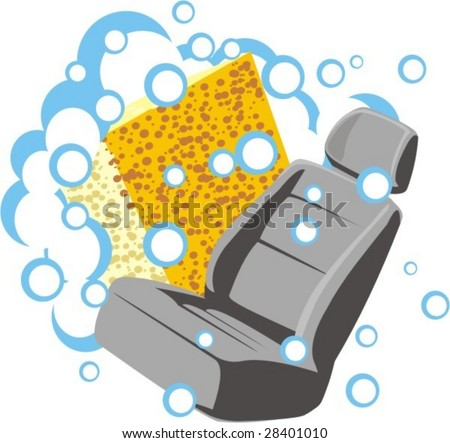 sign of the washer of the car sittings - stock vector