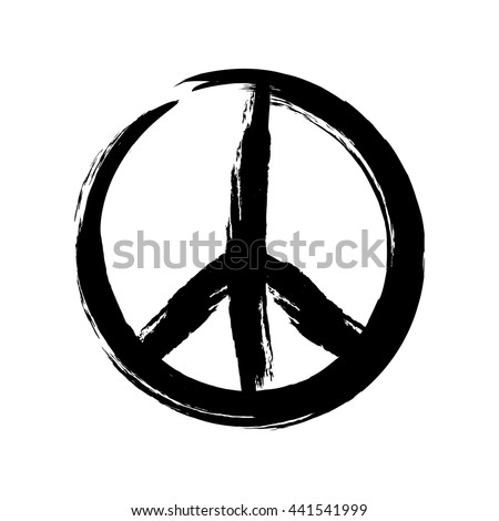 Sign Pacifist Peace Symbol Drawn By Stock Vector 2018 441541999