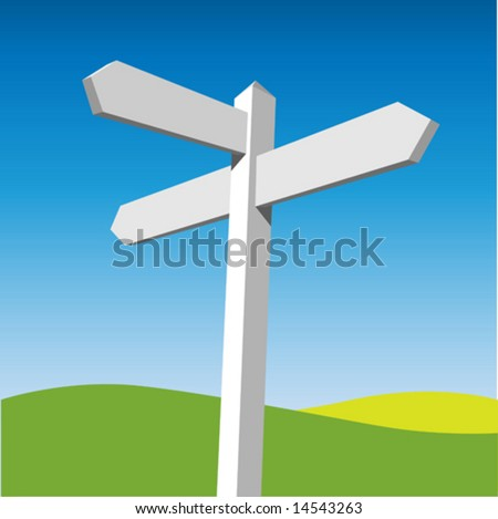 Sign Post - stock vector