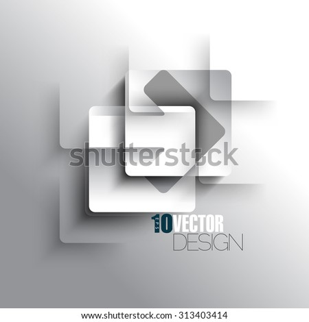 sign symbol arrow overlapping two rounded squares icon eps10 vector illustration - stock vector