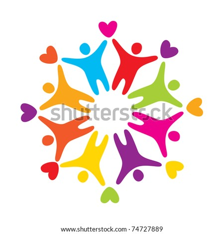 sign - symbolizes love, friendship and mutual - stock vector