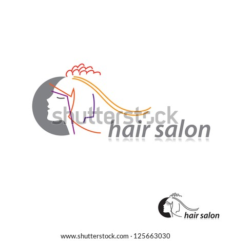 Sign template for a hairdresser's salon. vector - stock vector