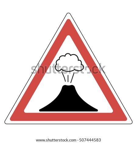Volcano Symbol Sign Danger Volcanic E...