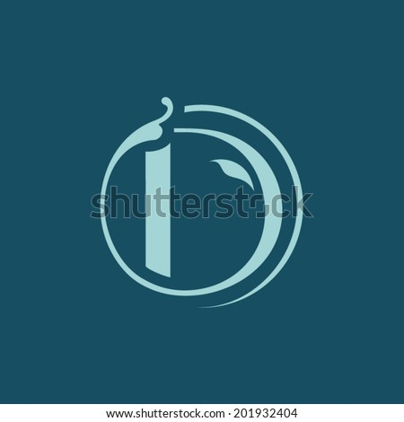 Sign the letter D Branding Identity Corporate vector logo design template Isolated on a blue background - stock vector