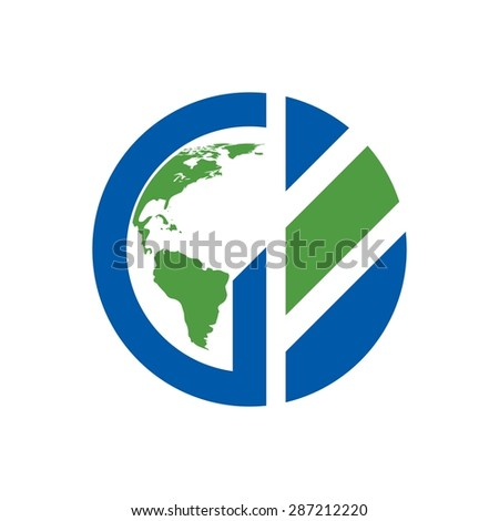 Sign the letter G Branding Identity Corporate vector logo design template Isolated on a white background. globe. map. global logo. - stock vector